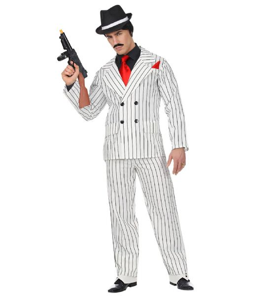 Adults Gangster - White Costume Fancy Dress